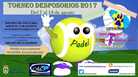 Padel Desposorios 2017