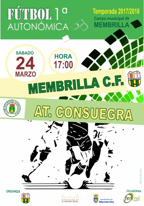 El Membrilla C.F. recibe al At. Consuegra