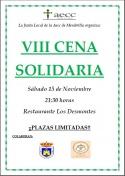 VII CENA SOLIDARIA a beneficio de la AECC.