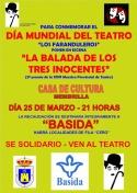 """Teatro: """"La balada de los tres inocentes"""" a beneficio de Basida"""