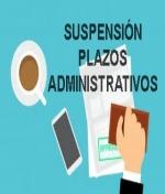 Atención, No debe preocuparse todos los plazos administrativos en sus procedimientos con el sector público están suspendidos.