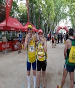 Joaquín Lozano Bronce en el Campeonato Regional de Media Maratón.