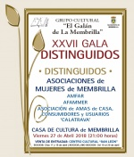"Distinguidos 2018 del Grupo Cultural ""El Galán de la Membrilla"""