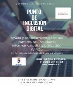 Ayuda y asesoramiento en tus trámites On Line en el Punto de Inclusión Digital