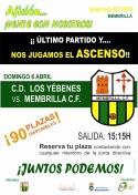 El Membrilla C.F. se juega el ascenso en Los Yébenes.