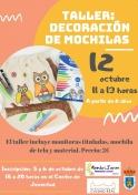 Taller de decoración de Mochilas organizado por MembriJoven