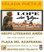 Velada Poética en honor a Lope de Vega