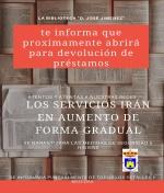 La Biblioteca Municipal abre sus puertas el próximo lunes 25 de Mayo
