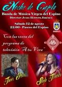"""Banda de Música Virgen del Espino y las voces de """"A tu Vera"""" en Noche de Copla"""