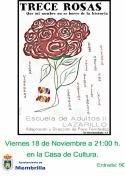 """El grupo de teatro Lazarillo pondrá en escena """"Trece Rosas"""""""