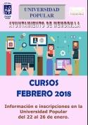Cursos de Febrero de la Universidad Popular del Ayuntamiento de Membrilla