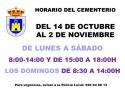 Horario del Cementerio Municipal