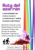 El Centro Juvenil organiza: Ruta del Azafrán
