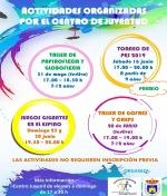 Calendario de Actividades del Centro Juvenil