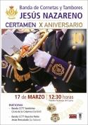 Concierto X Aniversario de la Banda CCTT Jesús Nazareno de Membrilla