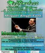 Miguel Ángel Font dirige Masterclass Cornetas Y Tambores Agrupaciones Musicales