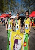 Manuel Jiménez, Pedro Román y Joaquín Lozano disputan a gran nivel el Maratón de Badajoz.