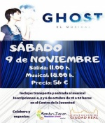 Membrijoven organiza viaje a Madrid al Musical Ghost
