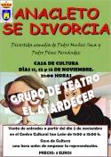 """El grupo de Teatro """"El Atardecer"""" pondrá en escena """"Anacleto se divorcia"""""""