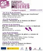 Actividades del Día Internacional eliminación de la Violencia contra las Mujeres