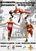 III Exhibición de Salto de Altura, Lanzamiento de Peso y 100 metros lisos